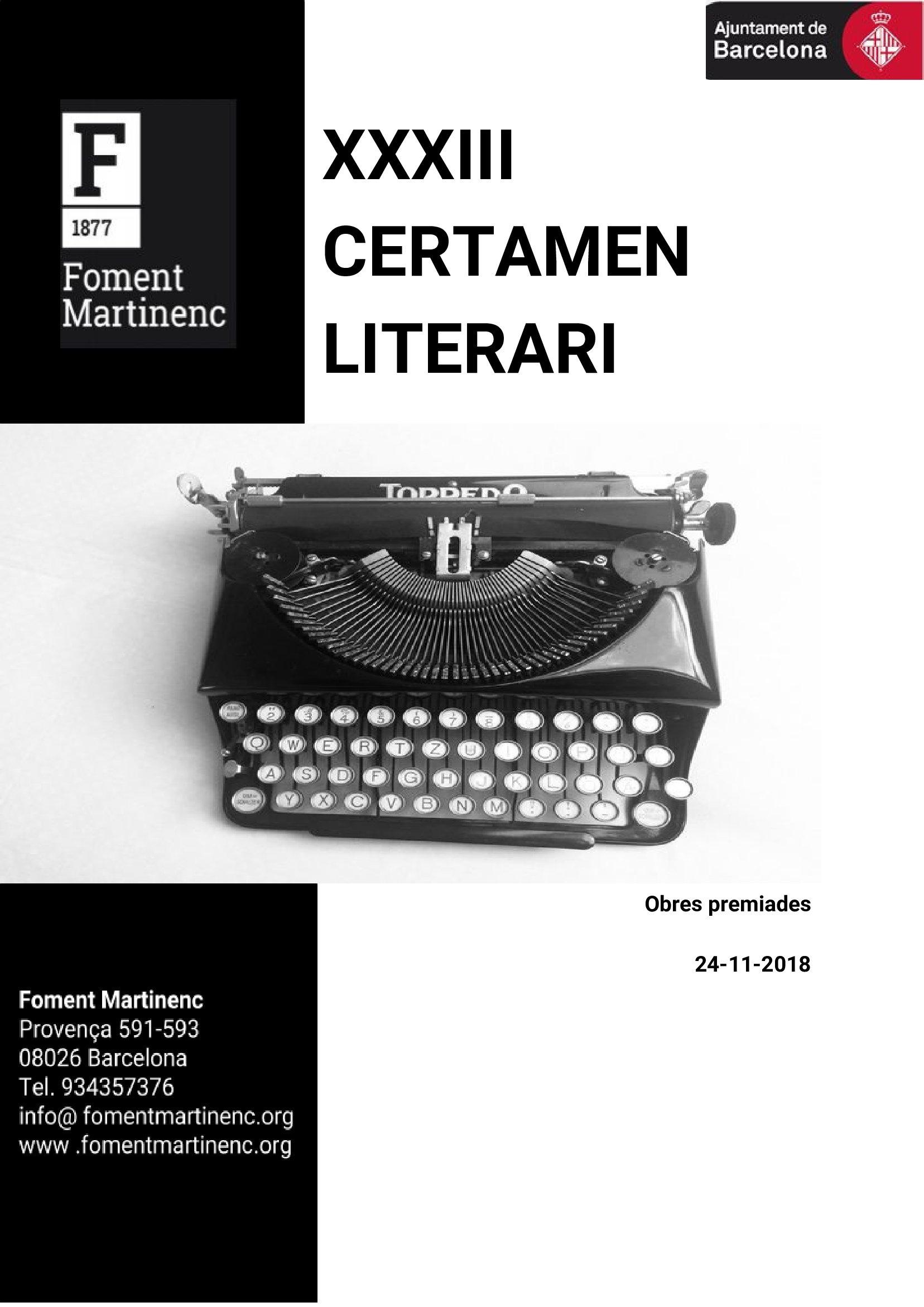 2018_CertamenLiterari_Cartell